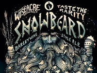 Snowbeard Barleywine Ale label