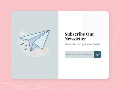 Subscribe Newsletter offer page newsletter modern ui clean app web design payment subscribe uiux