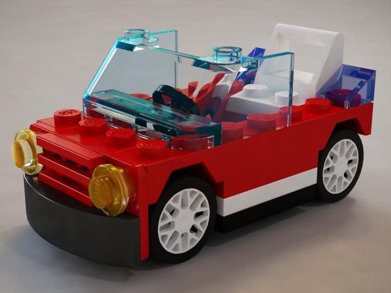 Lego P1 lego car 3ds max vray photoshop