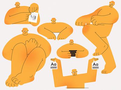 plagiarism team blog illustraion flat characters design character design character