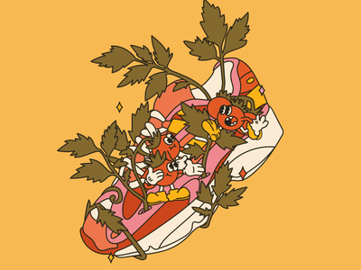 adidas vs nature tomato sneaker art sneaker illustration adidas sneaker fashion stilllife team flat illustraion characters design character design character