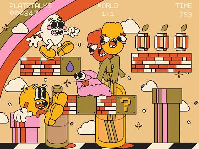 still life week 47 marioworld illustration still life stilllife team flat illustraion characters design character design character