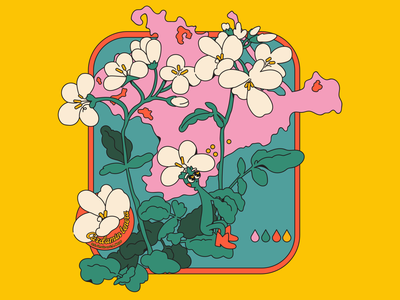 Endangered flowers vector illustration plant flat illustration flat illustraion character design character design