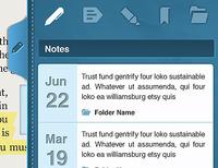 iPad Book Notes Tray