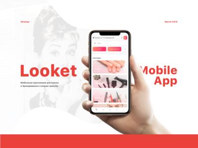 Looket Mobile App salons mobile uiux booking ui