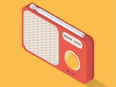 Radio isometric illustration icon illustrator isometric art design flat vector illustration