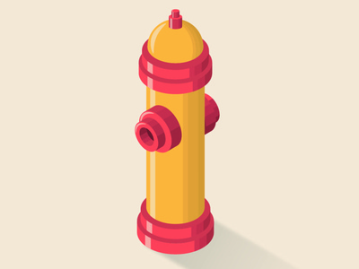Fire hydrant fire hydrant isometric illustration isometric art illustrator illustration flat design vector