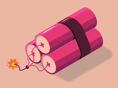 Dynamite 🧨 boom dynamite logo icon isometric illustration isometric art illustrator vector illustration flat design