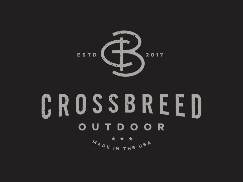 CrossBreed Outdoor branding apparel breed cross outdoor monogram