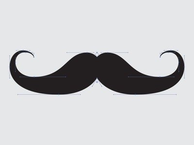 Handlebar Stache anchors bezier handlebars mustache