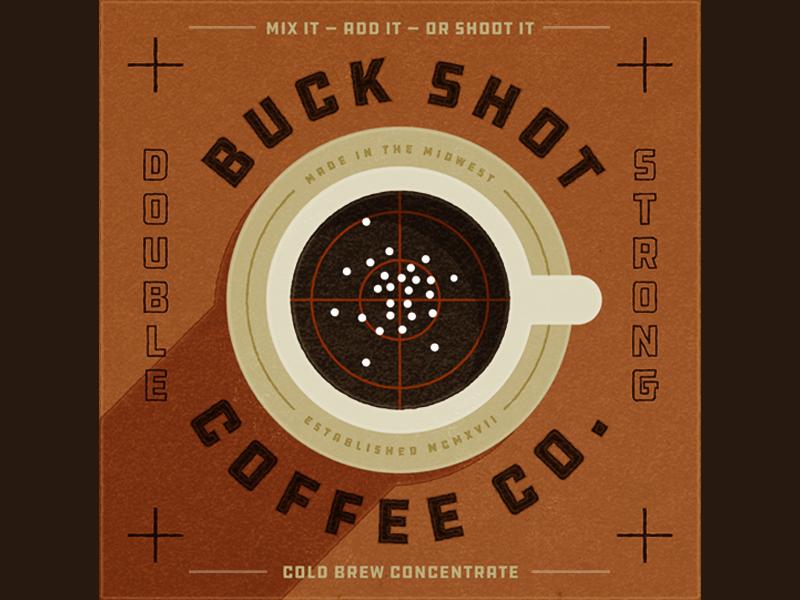Buck Shot Coffee Co. cold brew bulls eye target coffee cup buck shot coffee