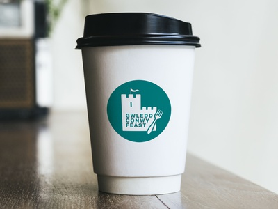 Conwy Feast icon typography branding vector design logo