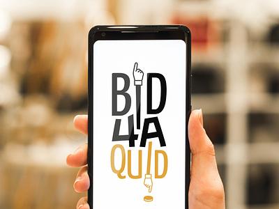 Bid 4A Quid branding vector design logo