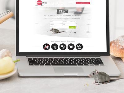 Stop Mice logo branding ux ui design web design web
