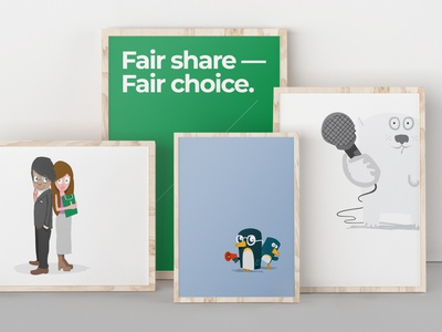 Fair Share - Fair Choice character design vector illustration