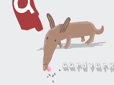 Aardvark! animals vector illustration