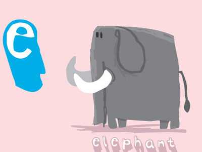Elephant! animals vector illustration