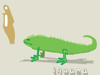 Iguana! animals vector illustration