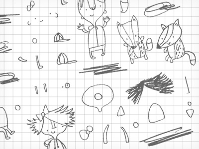 Oz & Fox character design illustration