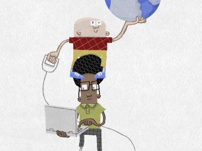 Walker and Geek illustration
