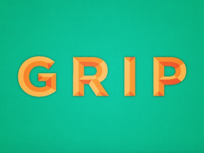Grip typography grip type uppercase gotham