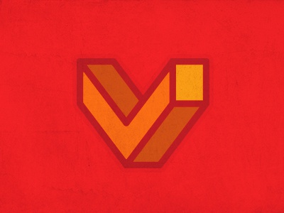 Vaxel logo type 3d red consultant