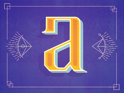 a typography a letters color type exploration