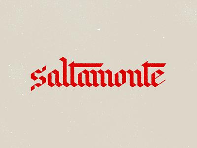 Saltamonte gothic font blackletter branding design type typography grasshopper