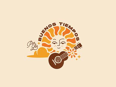 Good times design typography illustration sun