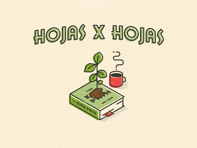 Hojas x hojas isometric brands content social media graphic design illustration