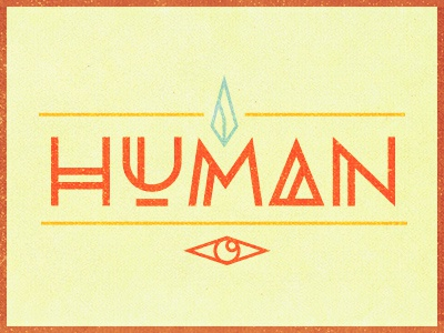 Human after all typography colors human rug texture