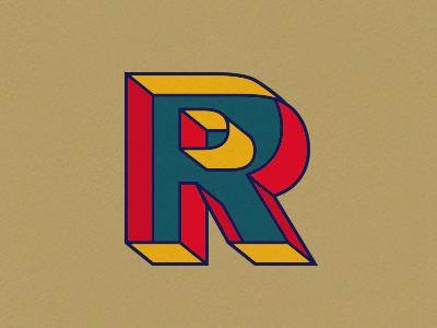R akzidenz typography hollow 3d basics