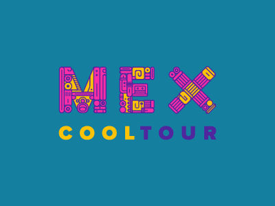 MCT branding logo colorful typography glyphs mayan aztec mexico