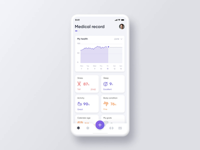 Be Healthy App - Fitness + Food healthcare uxui health app ux adobe aftereffects animation fitness fitness app aftereffects interaction healthy healthy lifestyle healthy eating healthy food health activity sport app sport training branding