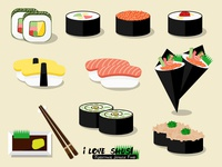 I love Sushi !