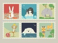 Stamps of mammal animals-2
