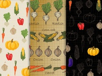 Background image of vegetables in different style