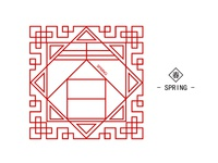 Chinese Letter Tracery Design - 春 spring -