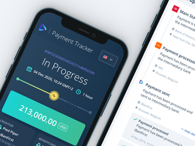 Payment Tracker Mobile responsive mobile design mobile ui mobile bank banking app banking app gradient user interface ux ui