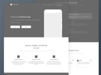 App Landing Page Wireframe