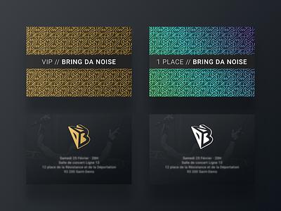 VIP Pass and Ticket Concert gradient concert ticket vip gold print pass