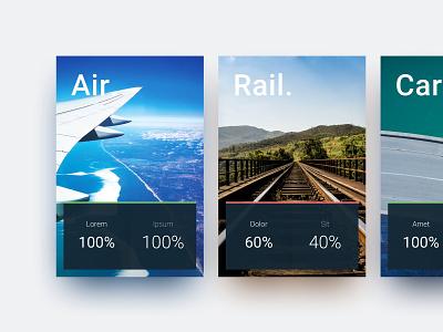 Milestone Card System system data presentation travel card design ui