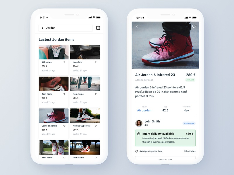 Marketplace App - Shopping Page ecommerce app ecommerce app  design marketplace design card ui ux app