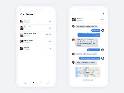 Marketplace App - Chat ecommerce app marketplace ecommerce chat card design ux ui app