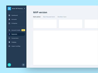 iBanFirst - Navigation Redesign banking bank menu nav navigation design user interface ui ux dashboard