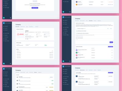 iBanFirst - Company Page company company profile settings page settings user interface dashboard card app ux ui