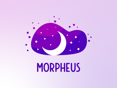 Morpheus - Sleeping App Logo purple logo purple playful clouds app logo cloud app sleep night moon cloud branding design logotype logo design logodesign brand logo mark logo design branding logo branding