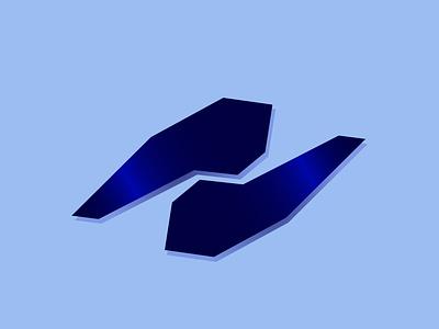 N Logo modern design shiny reflection logo cutting edge brutalist design brutalism modern n monogram n logo blue brand design logo mark logo design branding logo design logodesign logo branding design branding brand