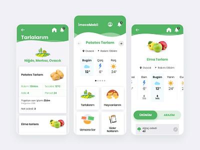 İmeceMobil Mobile App farmer farm illustration design flat mobile application ux