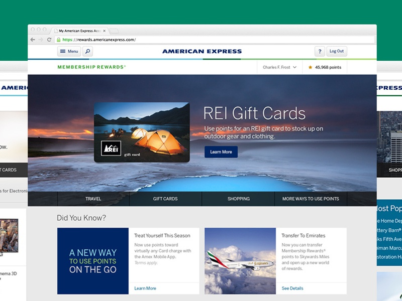 American Express Membership Rewards american express financial membership rewards gifting shopping